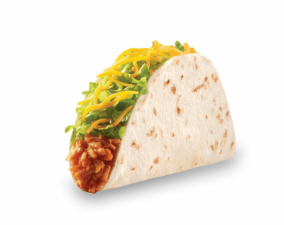 Taco bell soft taco png. Chicken from nurtrition price