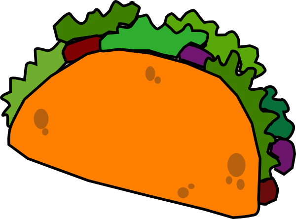 Taco clip printable. Free cartoon pictures download