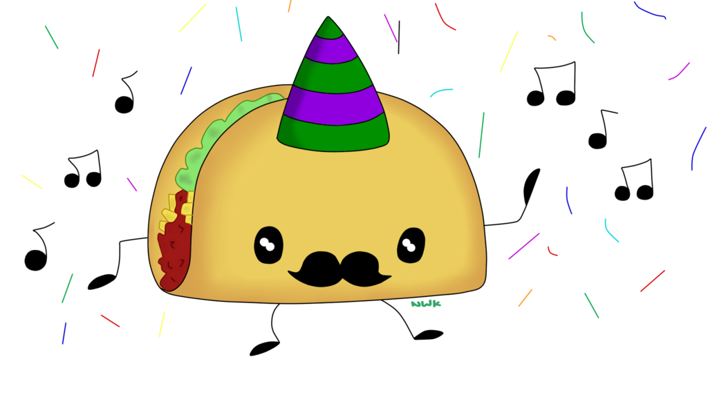 Taco clip dancing. Free download art on