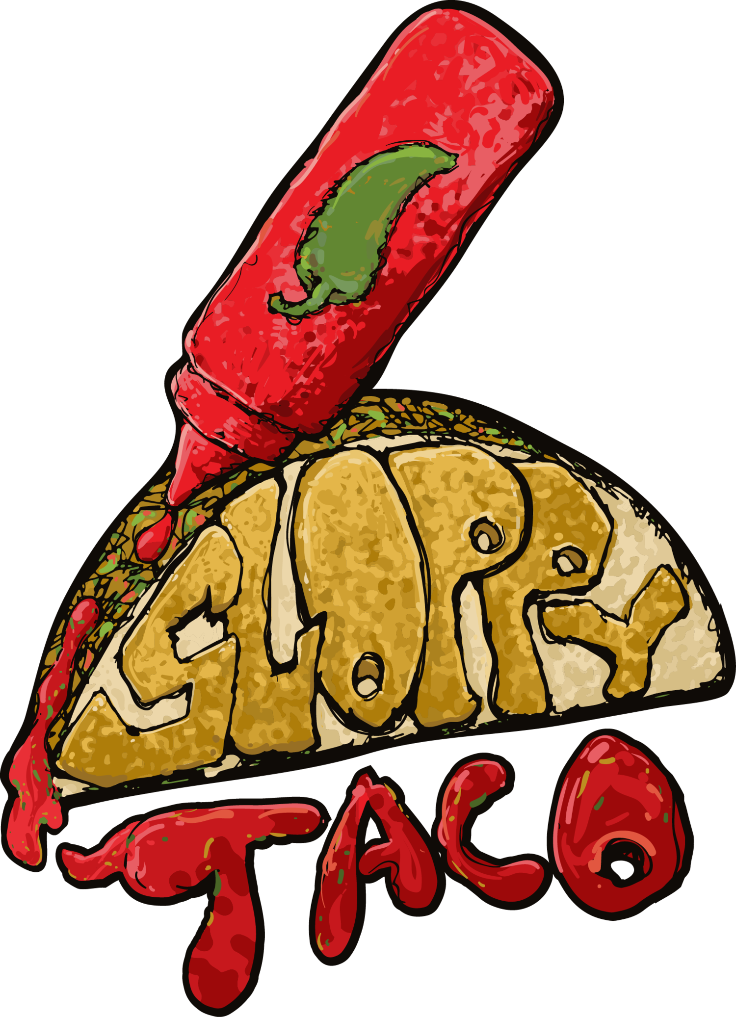 Taco clip dinner. Tacos graphic royalty