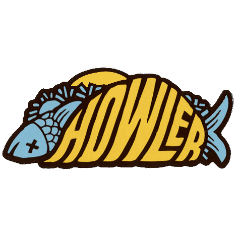 Taco clip fish. Howler brothers sticker fly