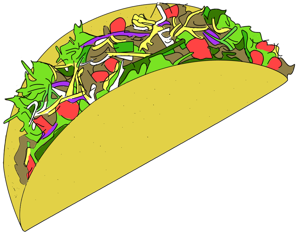Taco clip fish. Tacos graphic royalty