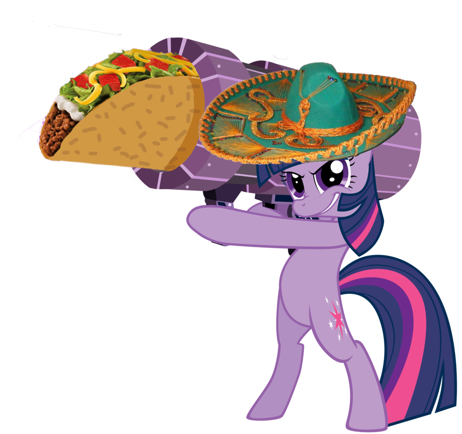 Taco clip hat. Bipedal cannon ponies