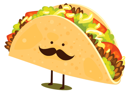 Tacos clipart illustration. A brief history of