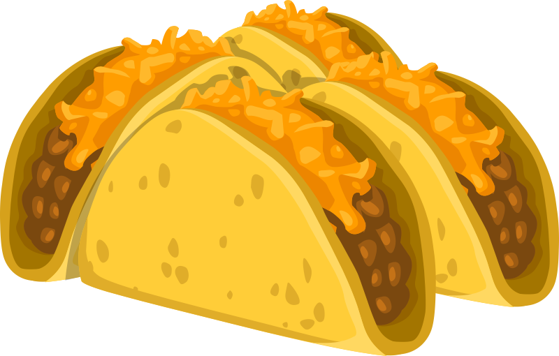Taco clip transparent background. Tacos graphic royalty