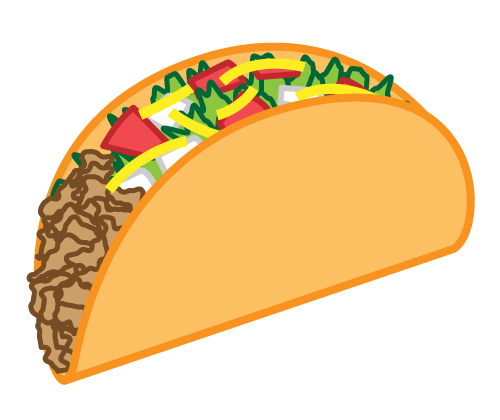 taco clipart black and white