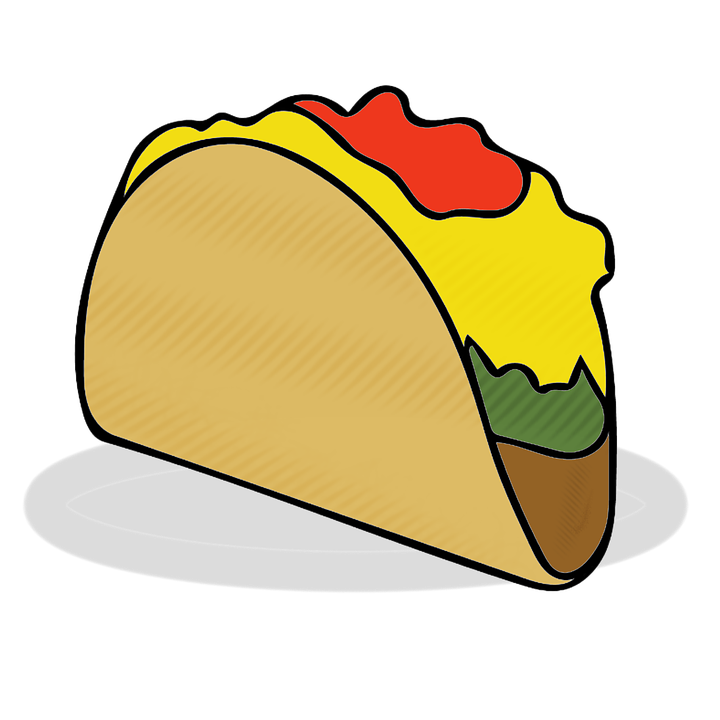 Taco clipart eating. Free photo mexican food