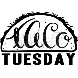 Taco clipart taco tuesday. Royalty free calligraphy typography
