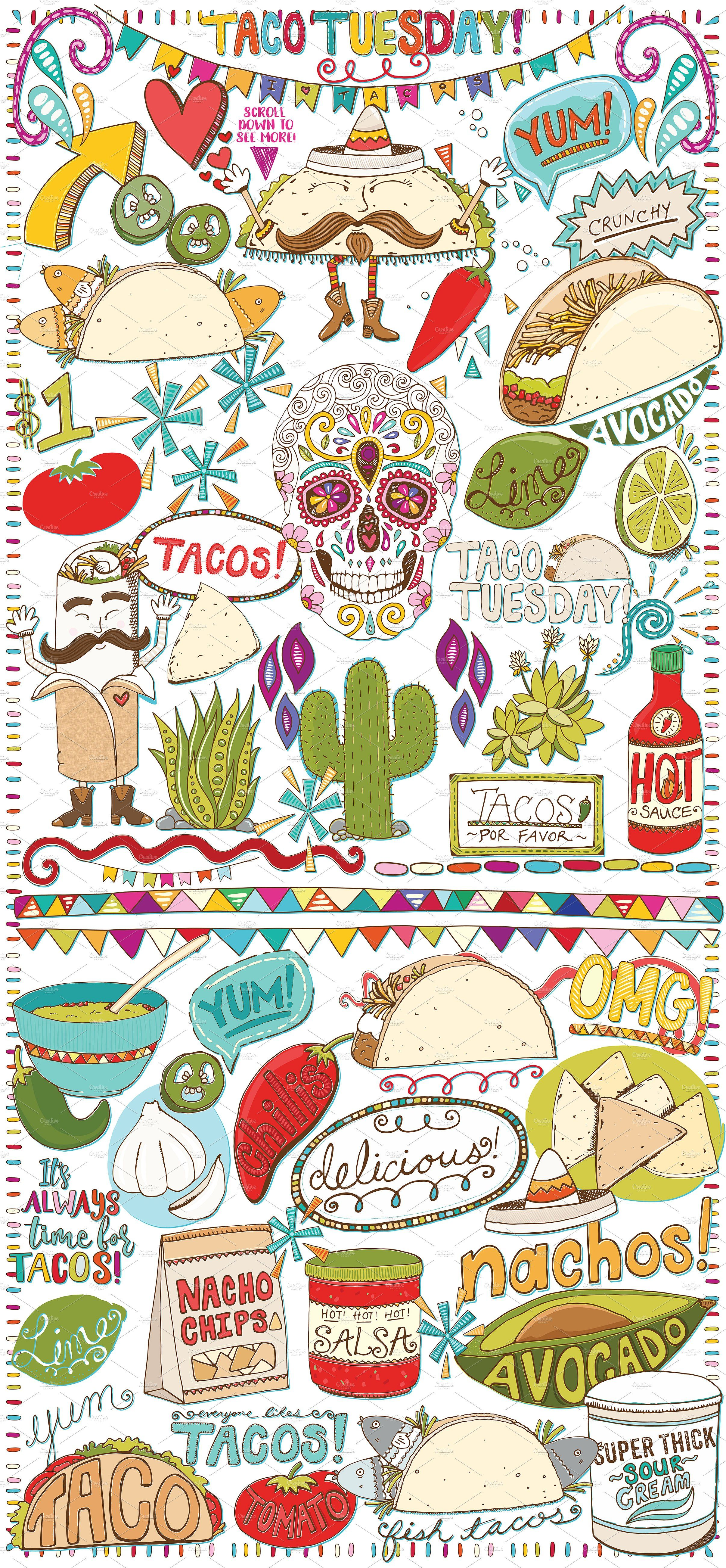 Taco clipart thing mexican. Food tuesday clip art
