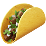 on apple ios. Taco emoji png svg library stock