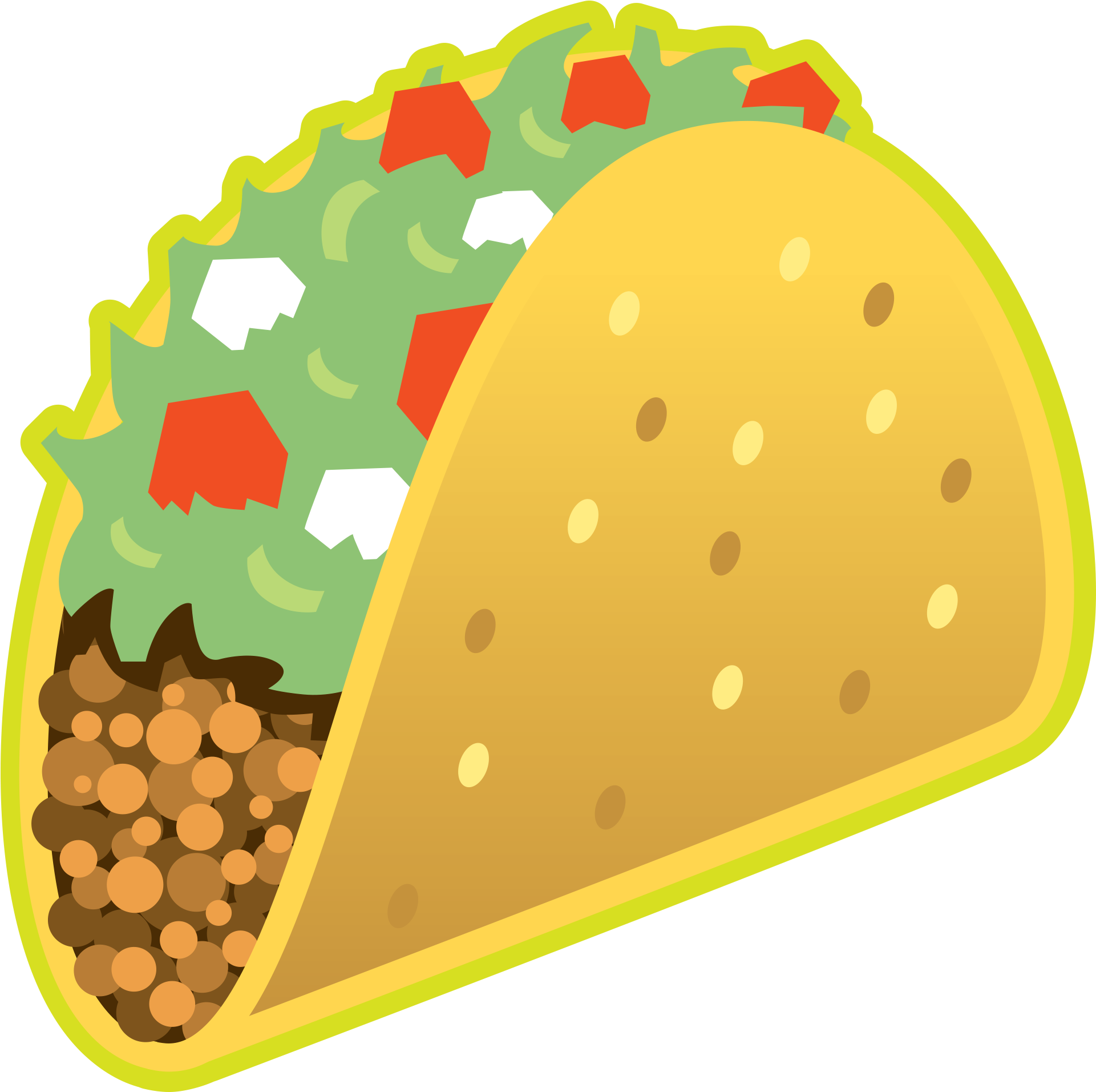 Taco emoji png. Download image with no
