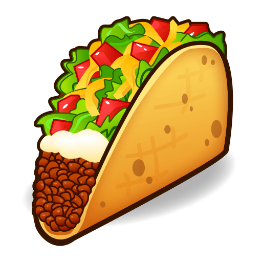 Taco emoji png. For facebook email sms