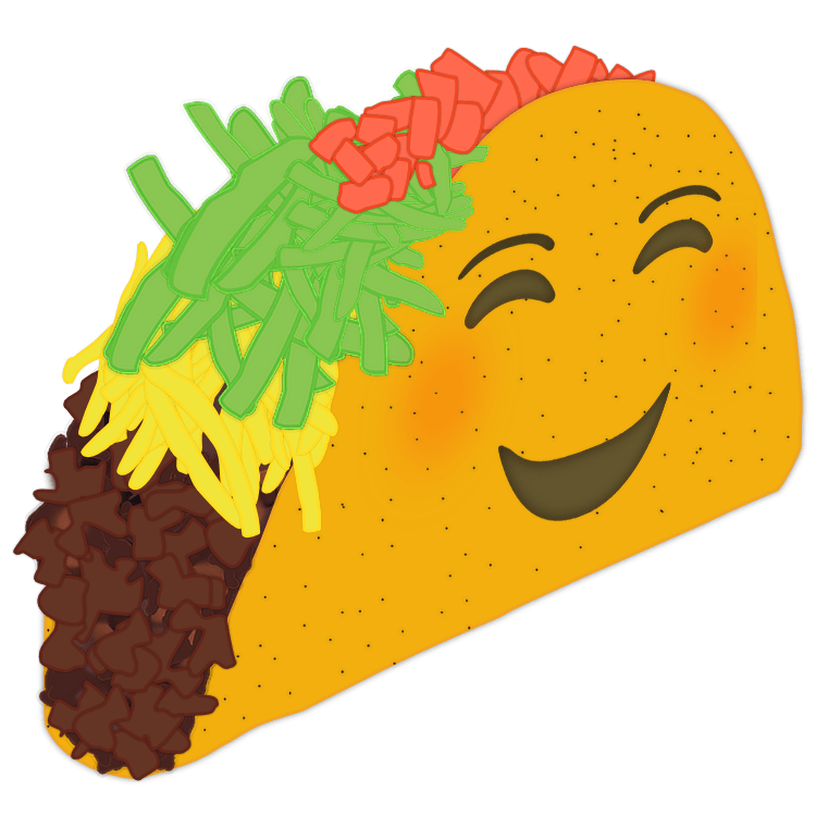 Taco emoji png. Happy car decal texas