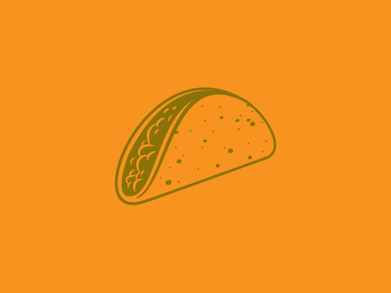 Taco png illustration. By russ pate dribbble