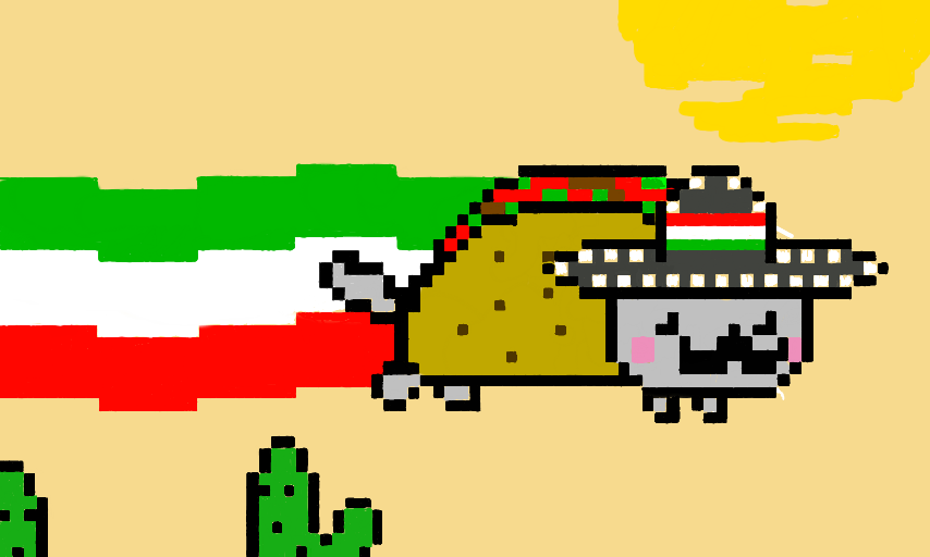 Taco png nyan cat. Colors live d by