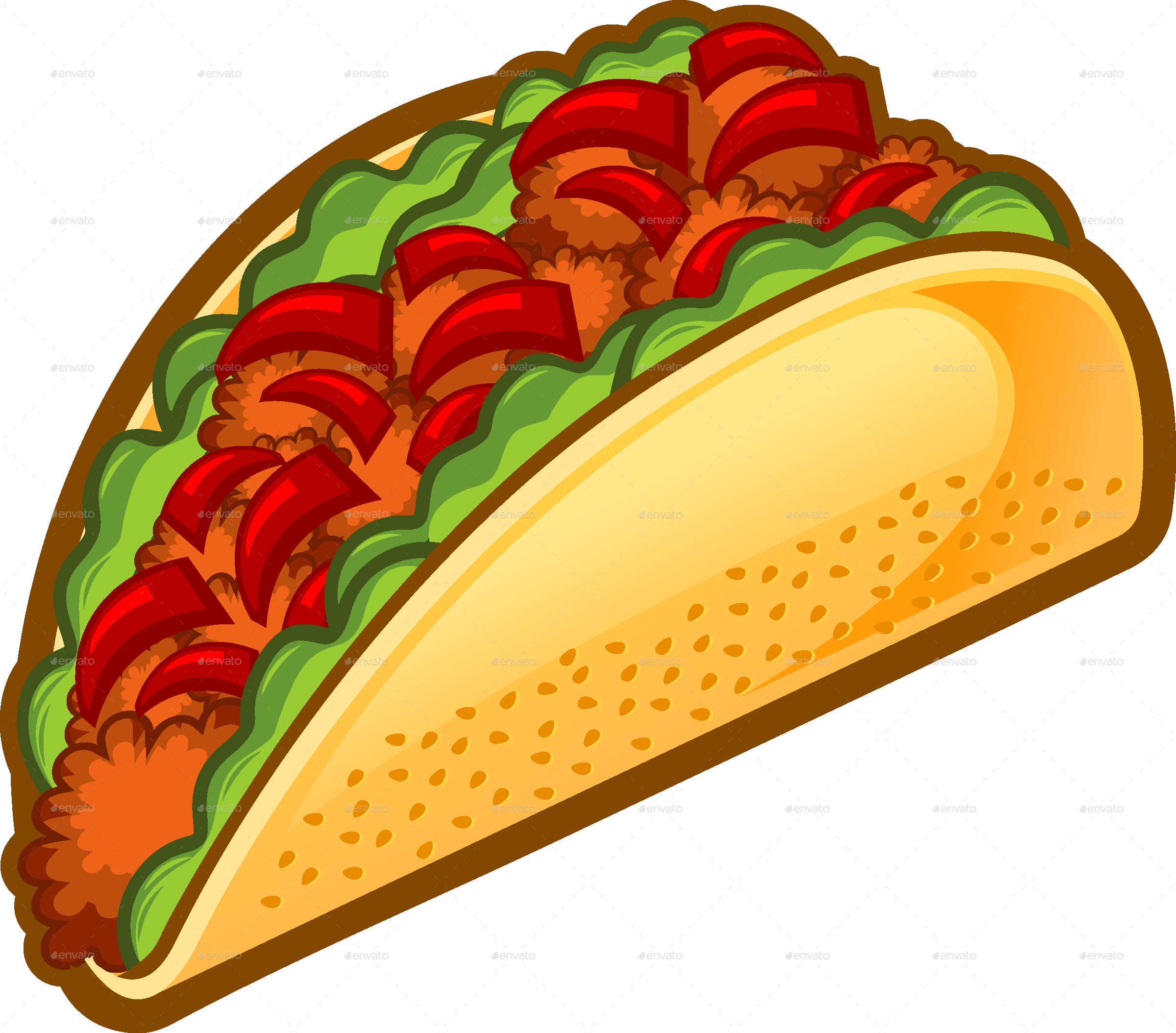 Taco transparent png. By rockdoodle graphicriver tacojpg