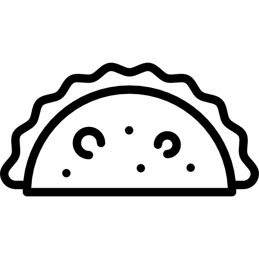 Tacos icon png. Taco flat black svg