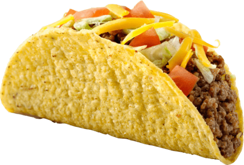Tacos png. With meat and cheese