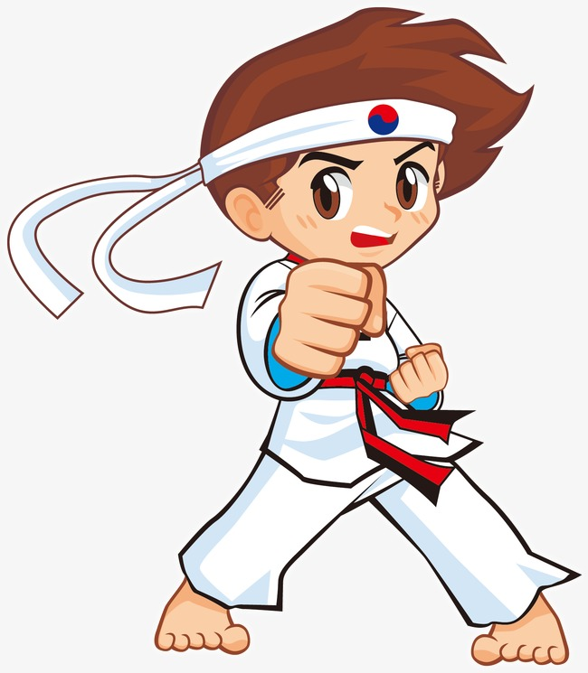 Korean elements work out. Taekwondo clipart picture black and white