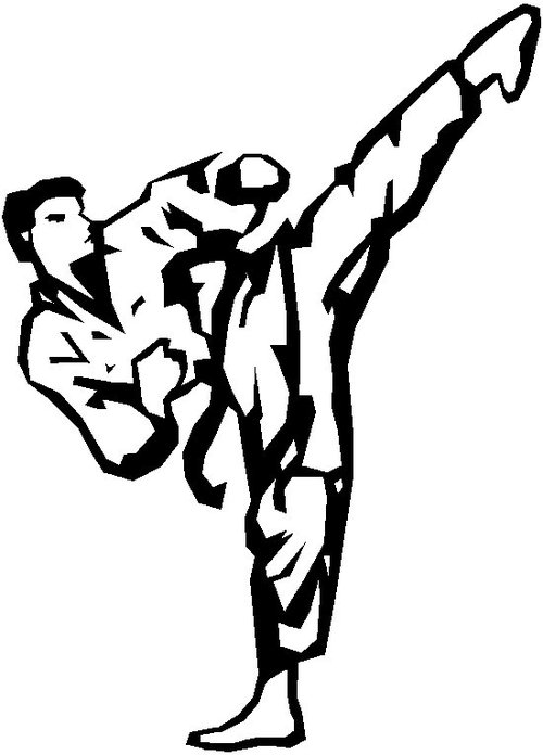 Taekwondo Sketch Transparent Clipart Free Download