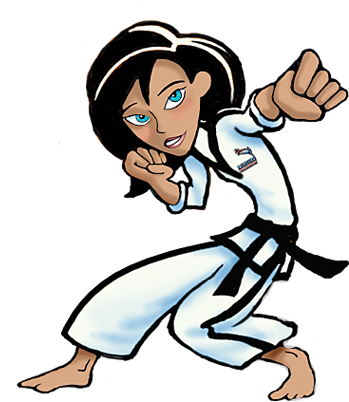 Taekwondo drawing girl. About lessons events programs