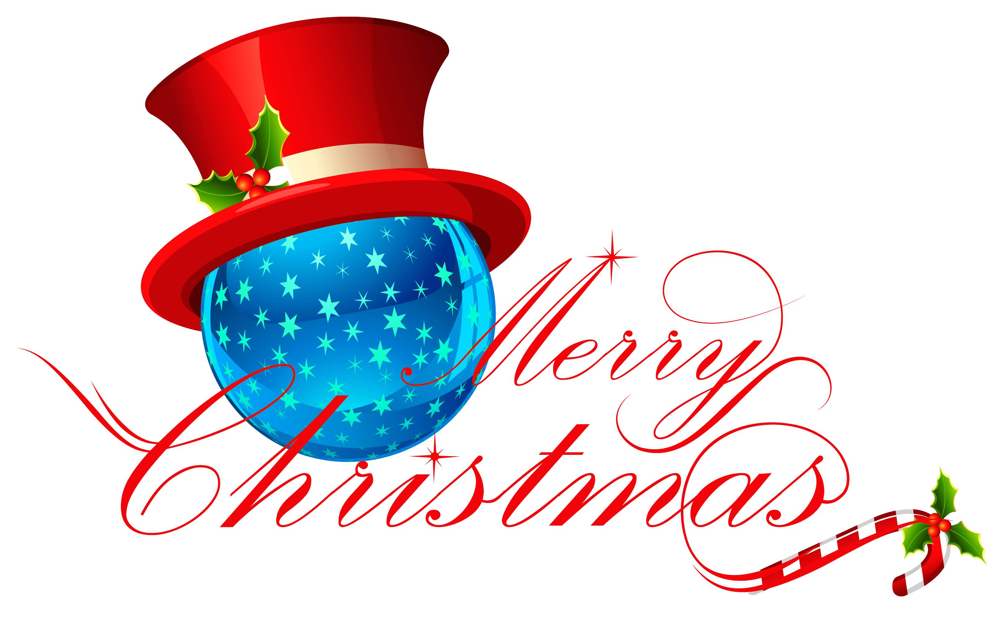 Merry christmas clipart round. Transparent with blue ornament