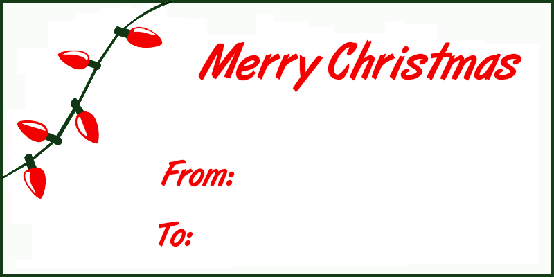 tag clipart merry christmas