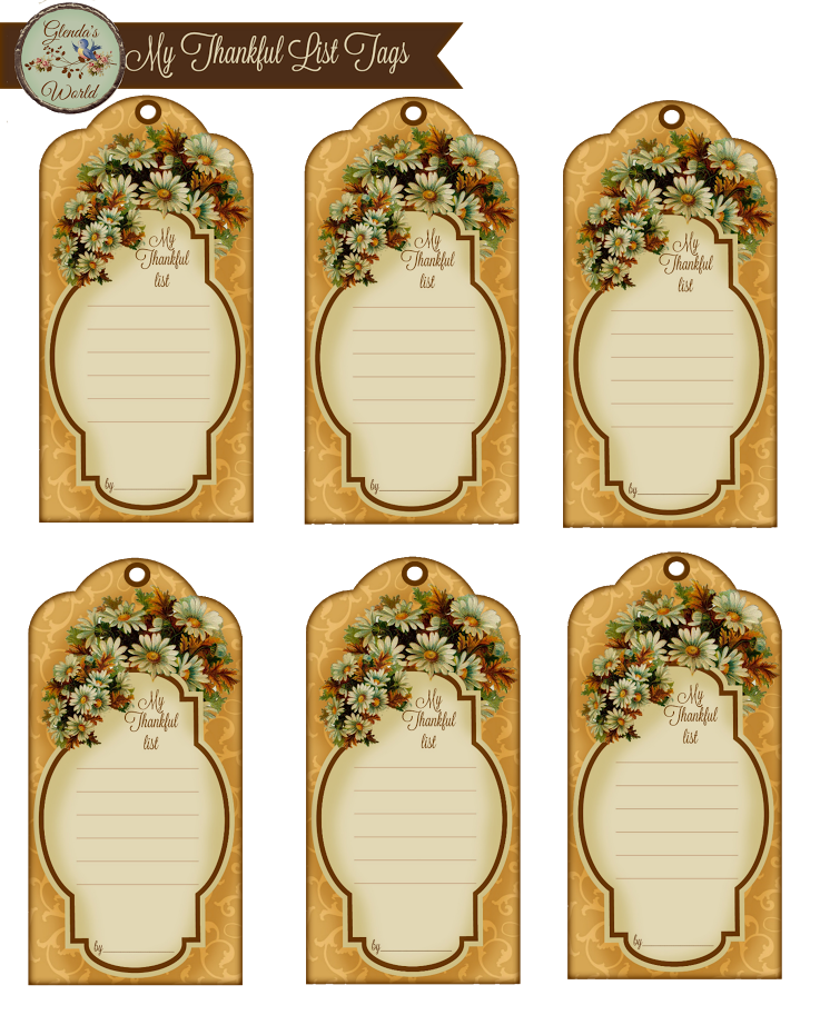 Tag vintage png. Displaying my thankful list