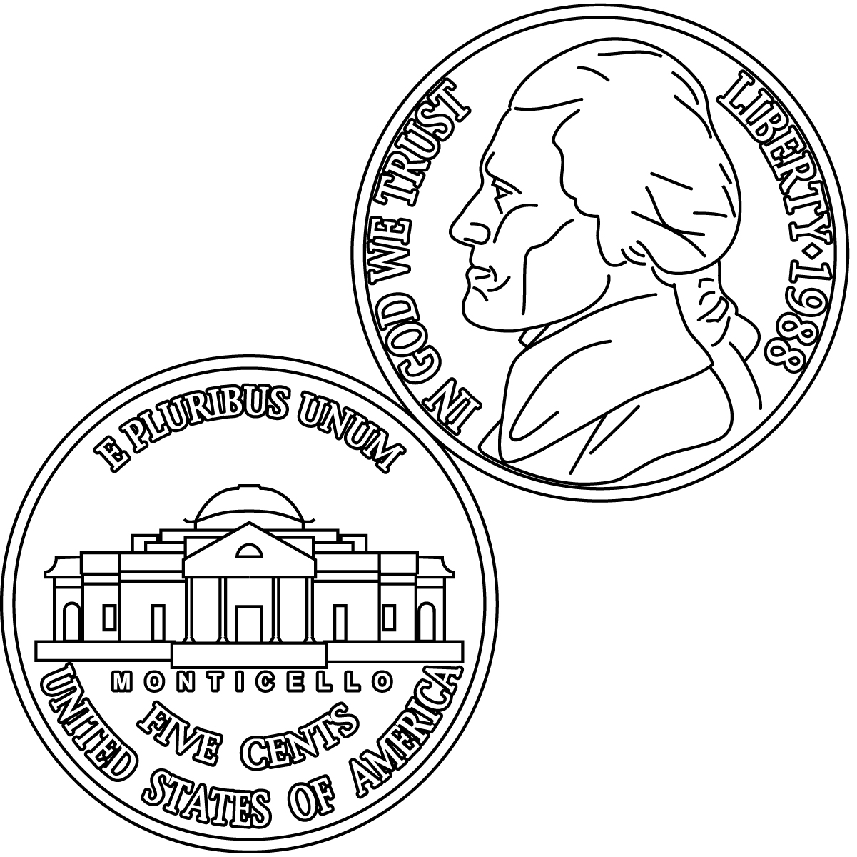 Coin united states pencil. Tail clipart dime clip royalty free download