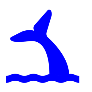 Tail clipart whale tale. Blue clip art at