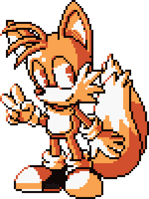 Tails sprite png. By zoiby on deviantart