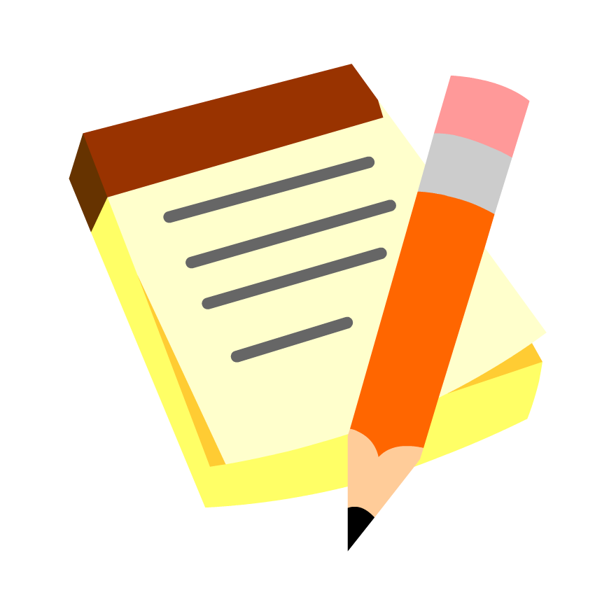 Taking notes png. Collection of clipart