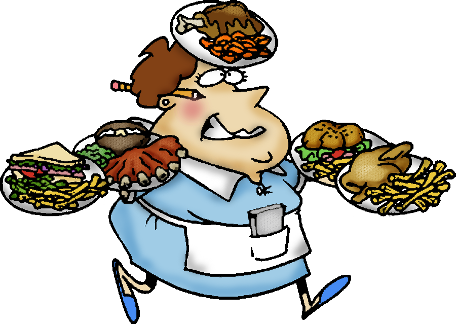 Waiter clipart sad. Free waitress pictures download