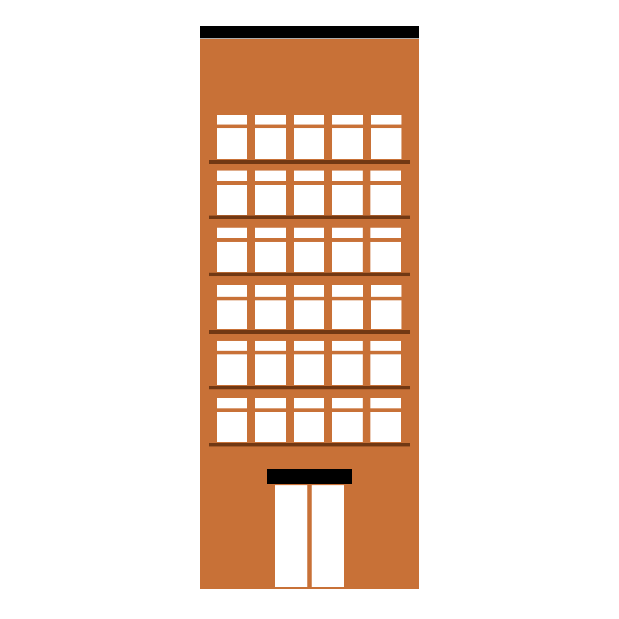 Tall building png. Medium color flat with