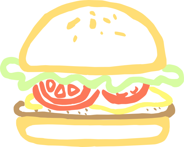 Hamburger svg comic. Burger clipart animasi transparent