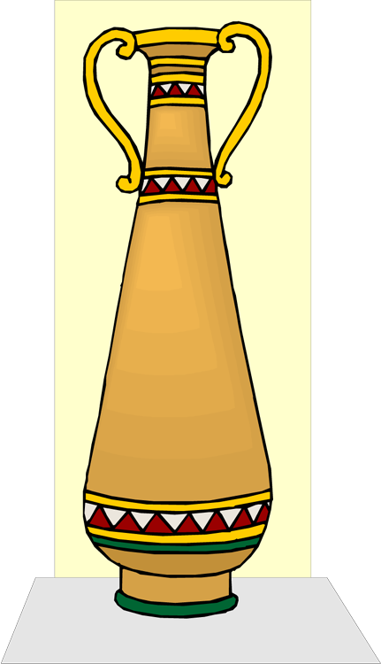Tall clipart degree comparison. Latin ii gold vase