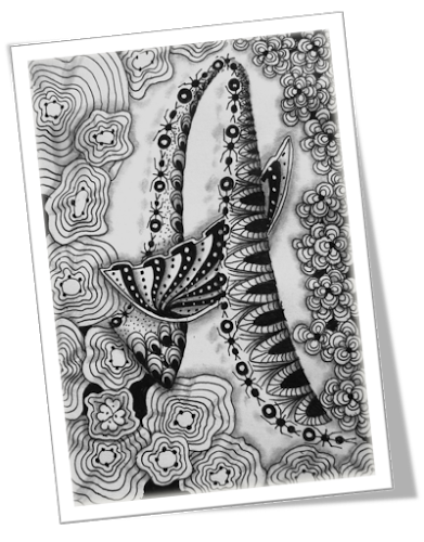 G drawing zentangle. Abc of a pinterest