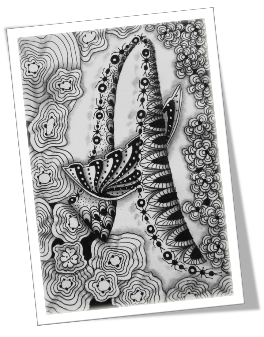 Tangle drawing pencil. Abc of zentangle a