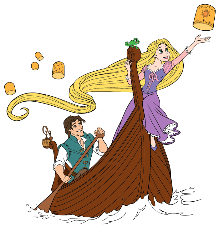 Tangled clip boat. Latern clipart rapunzel pencil