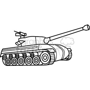 Tank clipart tank outline. Royalty free vector clip