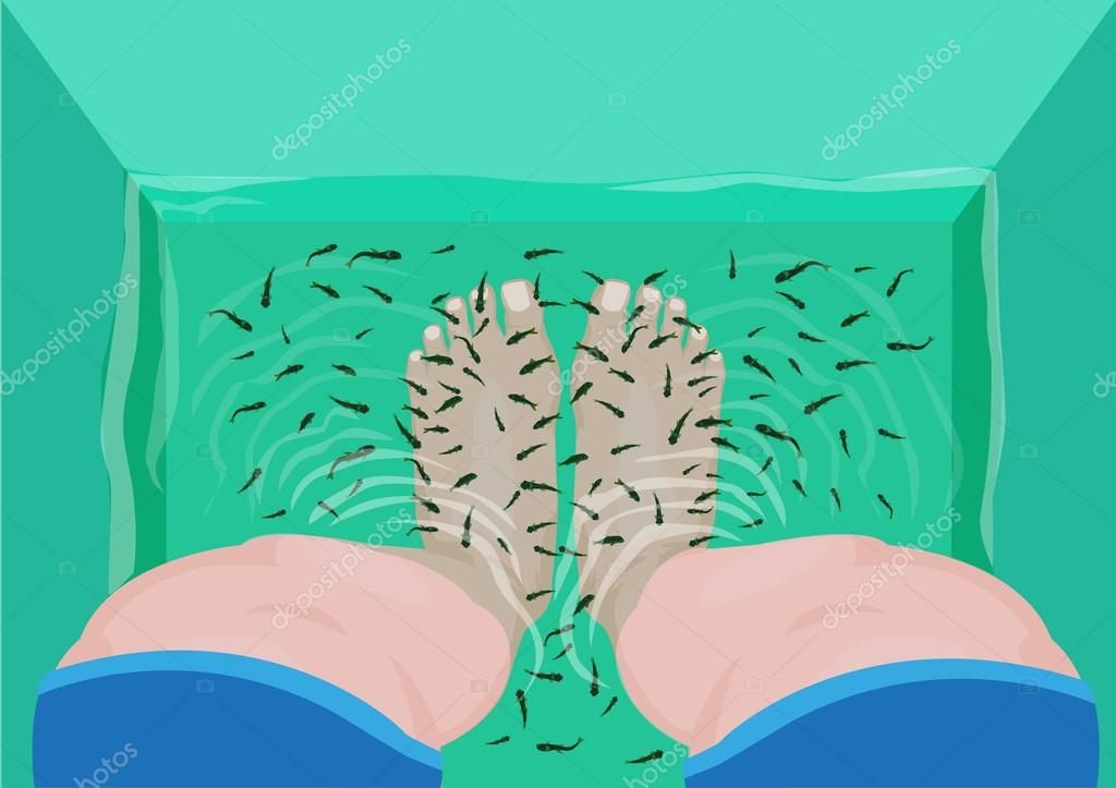 Tank clipart top view. Fish pedicure or massage