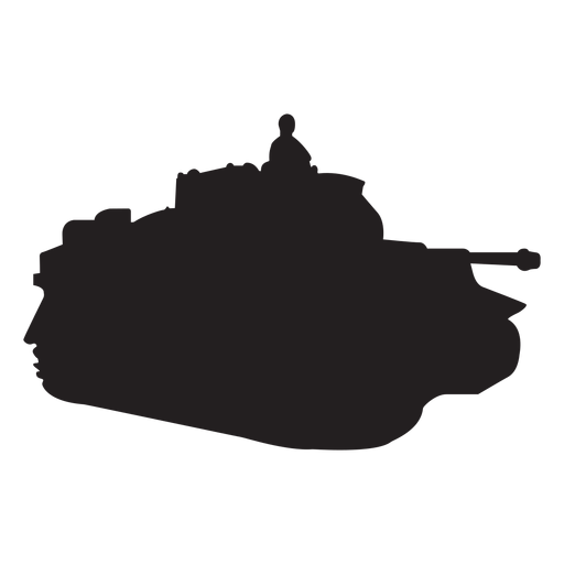 Transparent tank vector. Soldier in silhouette png