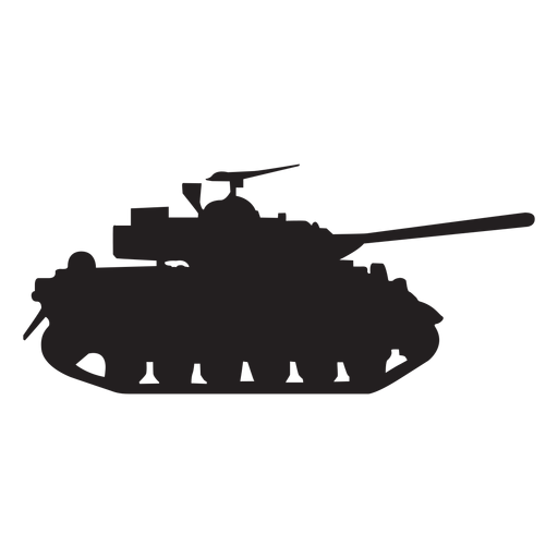 Transparent tank vector. Military silhouette png svg