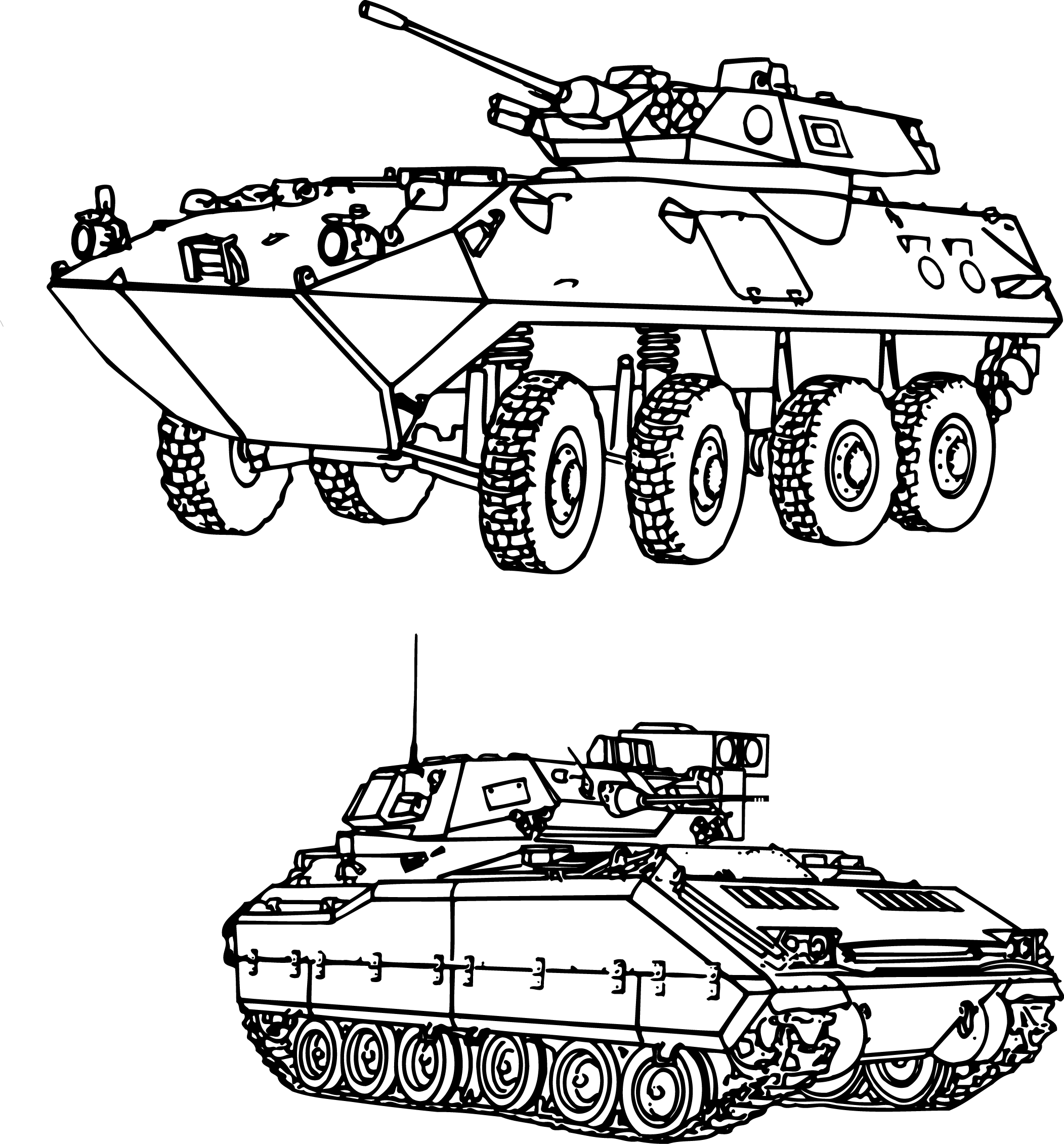 Tanks drawing. Tank military hand painted