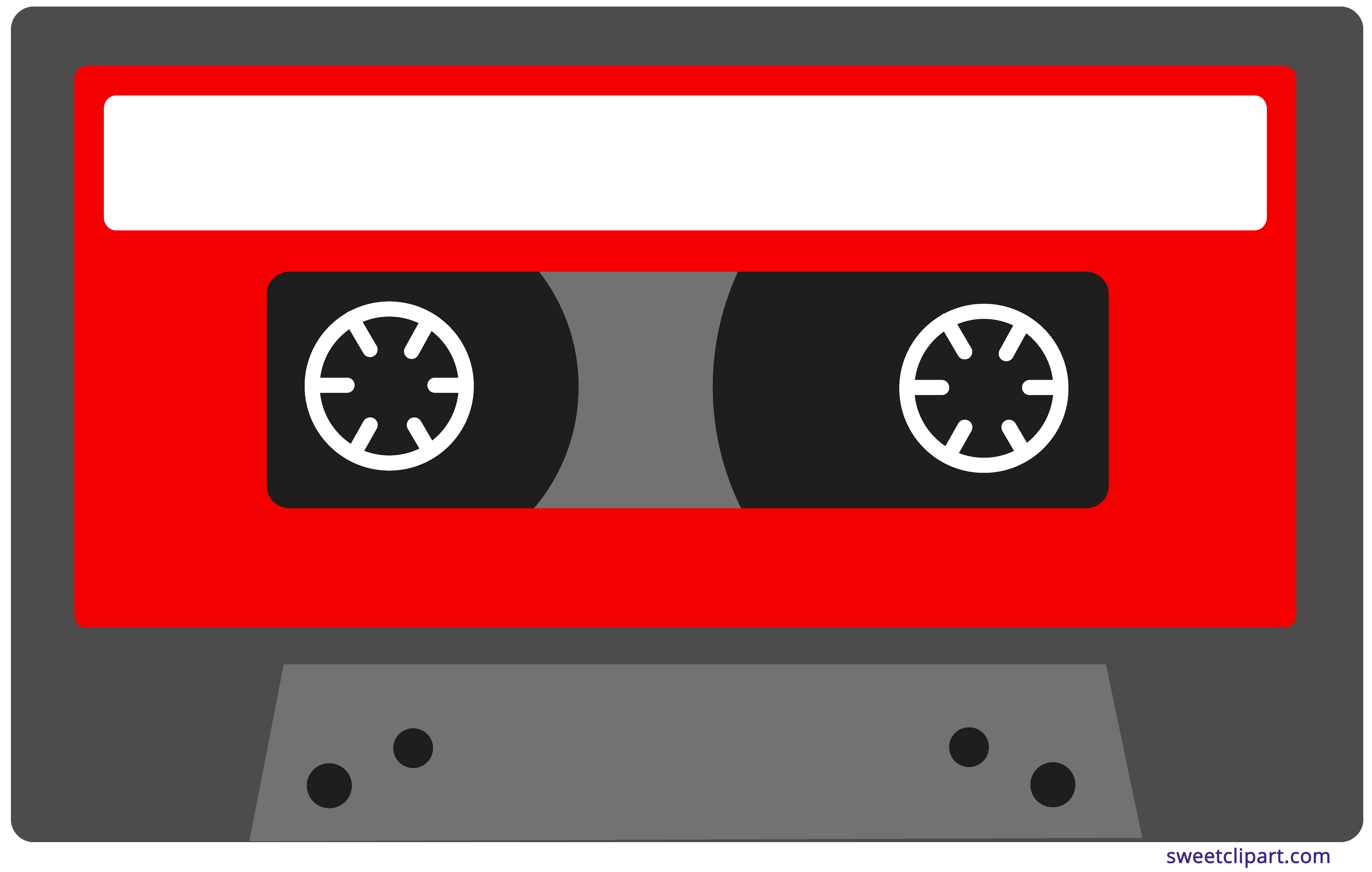 Red tape sweet clip. Cassette clipart svg library library