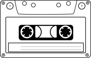 Tape clipart casette tape. Cassette audio clip art