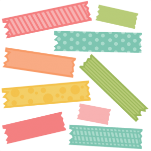 Tape clipart cute. Miscellaneous miss kate cuttables