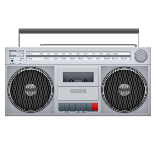 Tape clipart tape player. Ghettoblaster transparent png stickpng