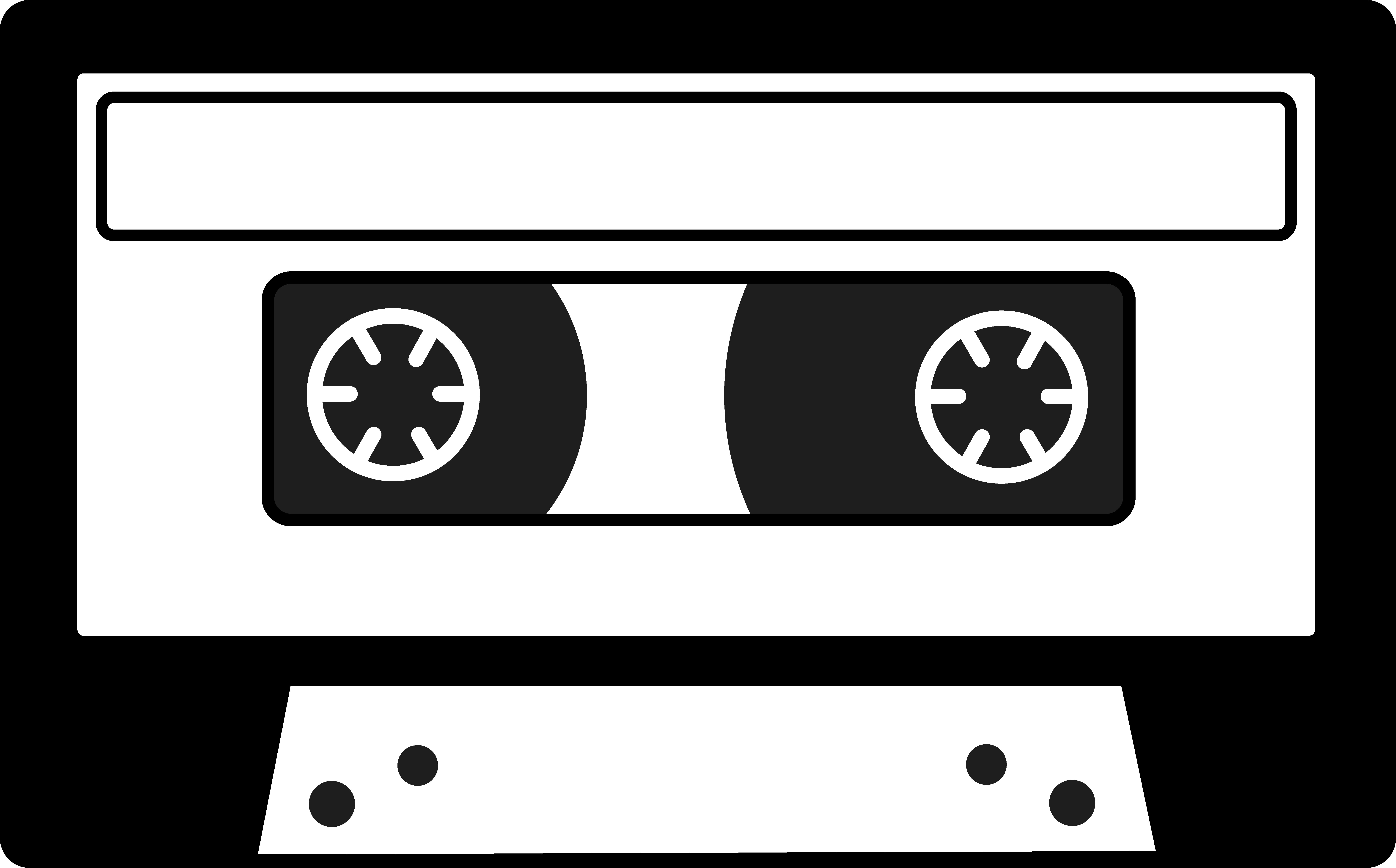 Tape clipart tape player. Cassette silhouette free clip