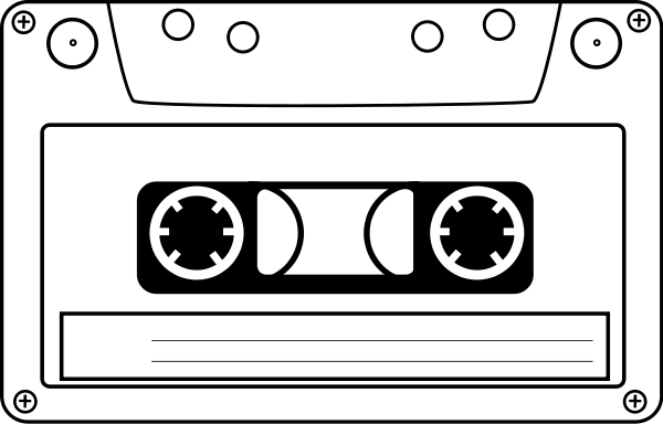 Free cliparts download clip. Tape clipart vhs tape image black and white